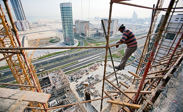 migrant worker in mid east